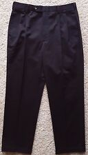 JOS a BANK Chinos BLACK 34 30 Pant MENS New NWT Sz SIZE Pleated COTTON Twill MAN