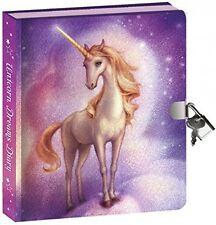 Peaceable Kingdom Unicorn Dreams Lock and Key Diary with Invisible Ink Pen,