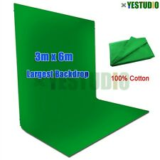 Photography Screen 3x6m Chroma key Green Backdrop Muslin Background Studio Light