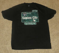 WWE Brock Lesnar Suplex City Las Vegas Authentic T-Shirt Size Large L WWF