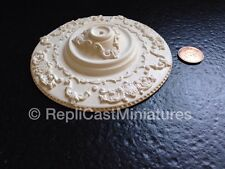 "CP152 Large 4 5/8"" Ceiling/Rose in Plaster RepliCast Miniatures Dolls House"