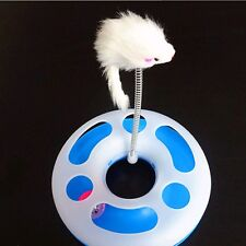 Hot Pet Cat Happy Circle Spring Toy Activity Training Funny Disk Toy Random