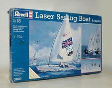Laser Sailing Boat Segelschiff mit Trailer Revell Bausatz 1:18 Modell Nr. 05459