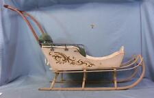Antique Primitive Painted Child's Wooden Sled Late 19th Century WOW!