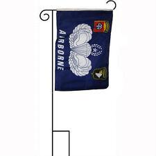 """12x18 12""""x18"""" 101st 82nd Airborne Sleeved w/ Garden Stand Flag"""