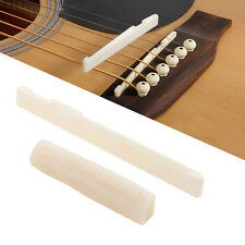Ivory Durable Buffalo Bone Bridge Saddle And Nut For 6 String Acoustic Guitar