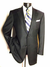 "Stunning Ermenegildo Zegna Suit Solid Midnight Blue 2Button 38R Pants 32.5""/28"""