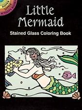 Coloring Books for Kids Little Mermaid Stained Glass Little Sea Creature Relax