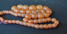 Vintage  Baltic Necklace  Butterscotch Amber Jewelry Beads  26gr