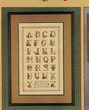 LEISURE ARTS COUNTRY ALPHABET SAMPLER COUNTED CROSS STITCH PATTERN