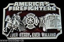 Belt Buckle America Firefighters Old Truck Occupational Metal Cool Belts Buckles