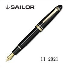 Sailor 1911 Profit21 MF (Medium-Fine) nib Large Gold Black (BK) 21k fountain pen