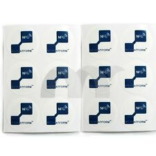 12x NTAG203 30mm NFC Tags stickers for Galaxy S4 S5 & Compatible all others