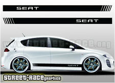 Seat side racing stripes 002 decals stickers graphics Leon, Altea