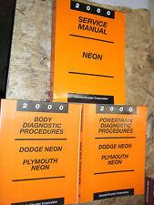 2000 DODGE PLYMOUTH NEON FACTORY SERVICE MANUAL SHOP REPAIR + DIAGNOSTICS