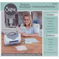 Sizzix Texture Boutique Embossing Machine-Gray & White 630454221470