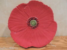 Fleur Rouge - Ambiance Collection - Salad Plate - Nannette Voorhees - Red Poppy