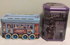 Milton Hershey 1996 Canister #3 and Hershey's Vehicle Series Canister #2 Trolley
