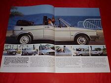 VW Golf I Cabriolet Prospekt von 1979