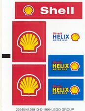 LEGO 1253 - Town: Gas Station - Shell Car Transporter - STICKER SHEET