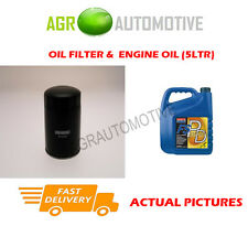 DIESEL OIL FILTER + FS PD 5W40 OIL FOR CITROEN RELAY 1400 2.8 128 BHP 2000-02