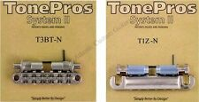 TonePros METRIC Pre-Notched Bridge & Tailpiece Set - NICKEL LPNM02-NKL