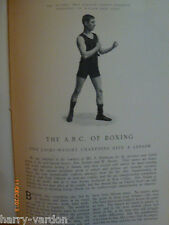 Ancienne photo de boxe antique edwardian l'article 1904 champions Ben Jordan & W Baxter