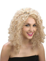 Women's Sexy Long Curly Blonde Fancy Dress Wig Cosplay Ladies Full Wig Party