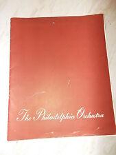 The Philadelphia Orchestra England-Scotland Tour  1949 Programme -Eugene Ormandy