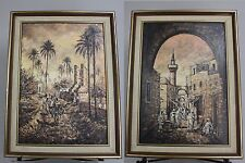 Signed A NOTTAH, 20th century, Orientalist Scene Persian Oil Paintings
