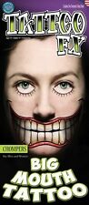 Chompers Big Mouth Temporary Tattoo TWISTY THE CLOWN look Alike Effect
