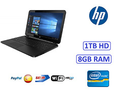 "ORDENADOR PORTATIL GAMA 2017 HP 15"" INTEL 8GB RAM 1 TB HDMI1756mb WINDOWS WIFI"