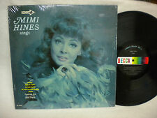 MIMI HINES SINGS 33 RPM LP DECCA RECORDS ALL ORIGINAL VINYL AND COVER ARE INICE