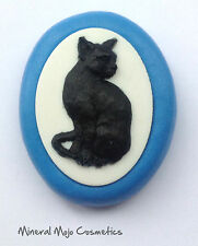 New Large Cat Cameo Silicone Mould - Cupcake Card Toppers, Fimo, Sugarcraft