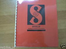 S0004 SACHS---INSTRUCTIE BOEKJE---SACHS 50 MET 2 VERSNELLINGEN-MODEL