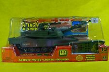 TOY STATE INDUSTRIAL M-I ABRAMS ATTACK TANK ACTION VOICE LIGHTS SOUNDS REMOTE