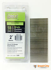 """Grex 18 Gauge 2"""" inch Long Stainless Steel Brad Nails - GBS18-50 Qty: 1000"""