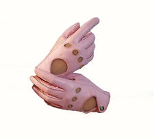 Soft genuine leather Women driving gloves Free shipping