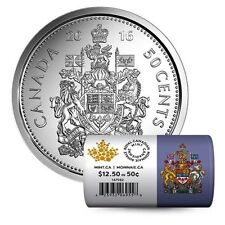 Canada 2016 50-cent Special Wrap Roll  - NO TAX