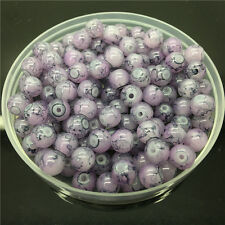 50Pcs 6mm Double Color Glass Pearl Round Spacer Loose Beads Jewelry Making 6#72