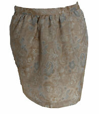 Forever 21 Gold Jacquard Print Side Pockets Flared Mini Skirt sz-S Formal Party