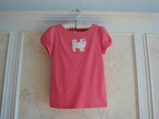 NWT JANIE AND JACK GIRLS PUPPY APPLIQU&EACUTE TOP  12  ROSE PINK