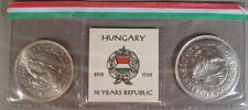 1969 Hungary 2 Coin Set 50 & 100 Forint 50th Republic UNC. **FREE US SHIPPING **