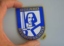 VINTAGE CAR DECAL BADGE STICKER ROLAND PORSCHE 356 911 VW BMW MERCEDES MB SL NOS