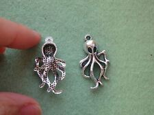 10 octopus pendant charm tibetan silver antique tone wholesale jewelry making