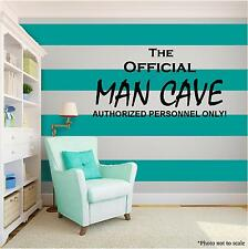 MAN CAVE Vinyl Wall Art quote Home Family Decor Decal Word & Phrase Saying