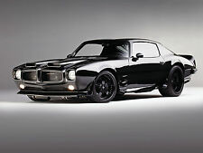 1970 Pontiac Firebird black 24X36 inch poster, sports car, muscle car