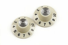 "Fender Vintage 1965 Jazzmaster ""Witch Hat"" Knobs Vintage white (2) 0992086000"