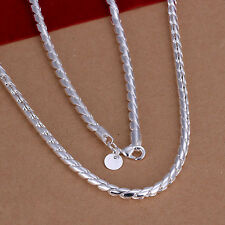 hot! wholesale Sterling solid silver fashion jewelry Chain rope Necklace XLSN012