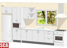 luxury polyurethane galley kitchen cabinets top quality